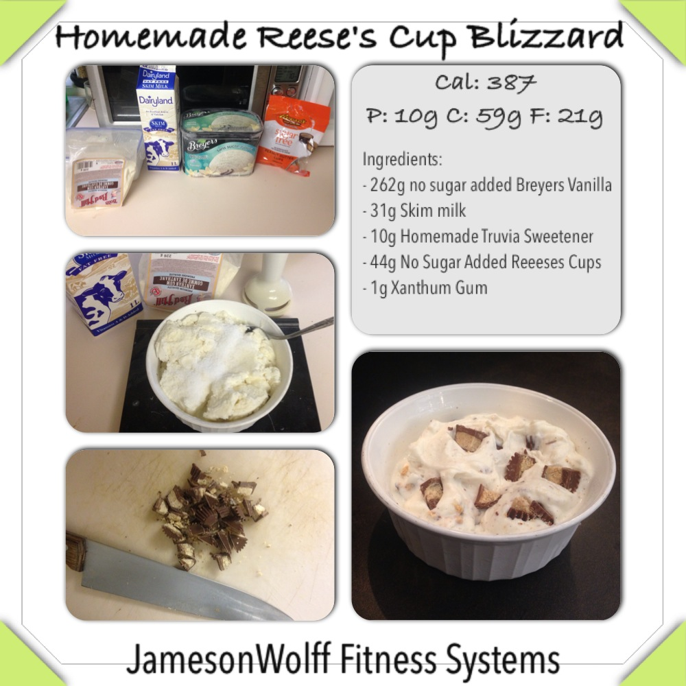 Homemade Reeses Cup Blizzard